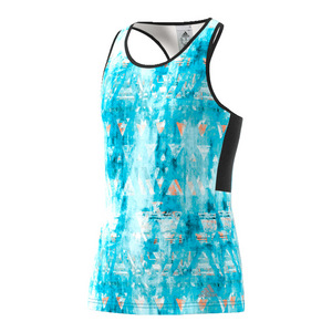 Girls` Essex Trend Tennis Tank Samba Blue Print