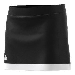 Girls` Court Tennis Skirt Black and White