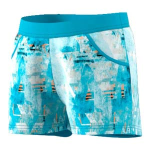 Girls` Melbourne Tennis Short Samba Blue Print