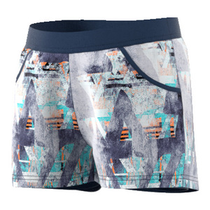 Girls` Melbourne Tennis Short Mystery Blue Print