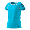 ADIDAS Girls` Club Tennis Tee Samba Blue