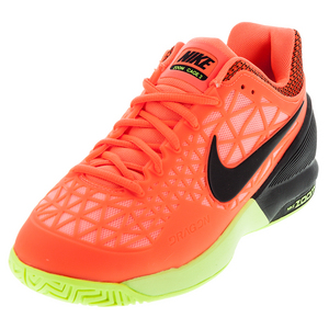 Men`s Zoom Cage 2 Tennis Shoes Hyper Orange and Lava Glow