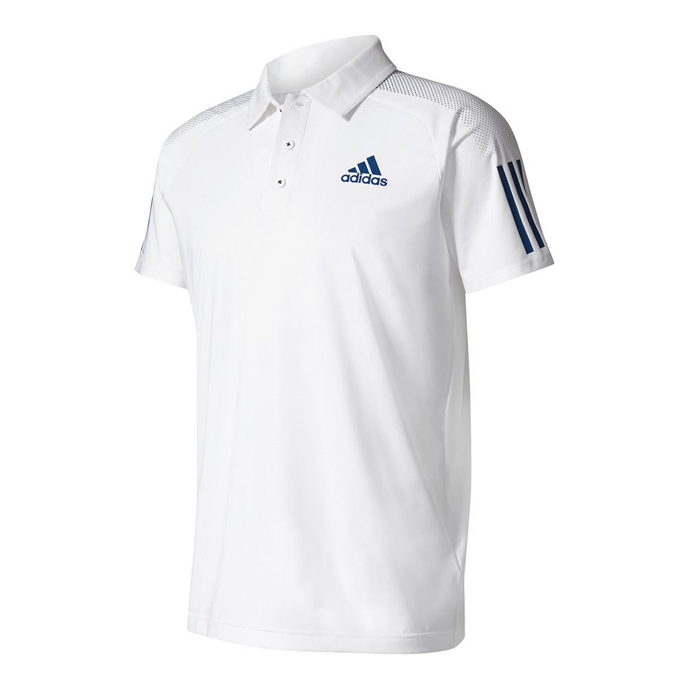 Men's Barricade Tennis Polo White And Mystery Blue