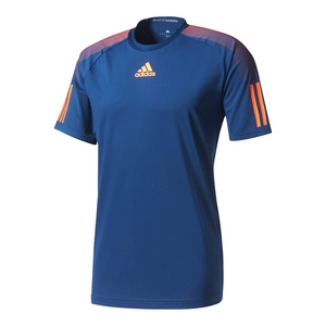 Men`s Barricade Tennis Tee Mystery Blue and Glow Orange