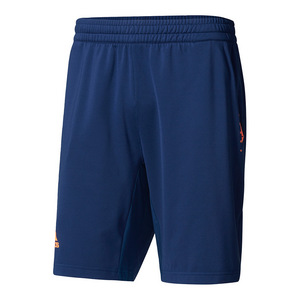 Men`s Barricade Tennis Short Mystery Blue and Glow Orange