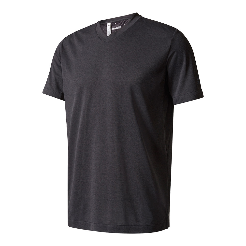 Men's Uncontrol Climachill Tennis Tee Chill Black Melange