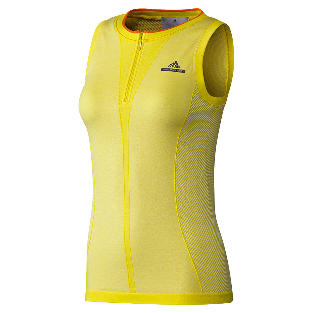 Women's Stella Mccartney Barricade Tennis Tank Bright Yellow And White