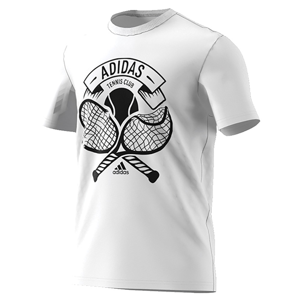 Men's Tennis Crest Tee White