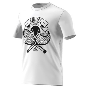 Men`s Tennis Crest Tee White