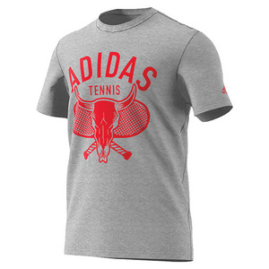 Men`s Desert Tennis Tee Medium Gray Heather