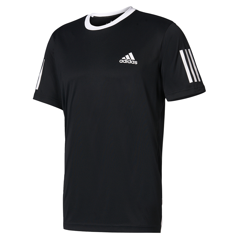 Men's Club Tennis Tee Black And White