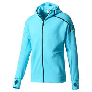 Men`s Zero Negative Energy Tennis Hoodie Samba Blue