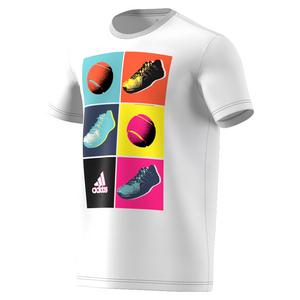 Men`s Pop Art Tennis Tee White