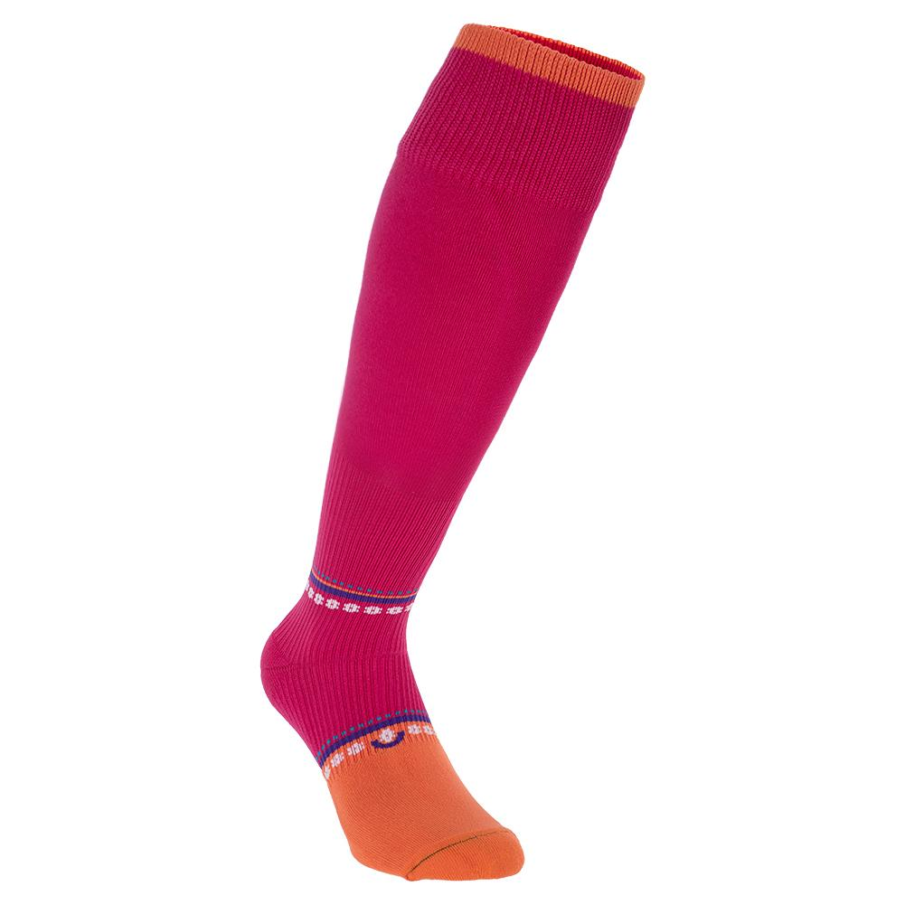 Women's Otc Graduated Compression Tennis Socks Pink And Orange