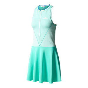Women`s Stella McCartney Barricade Tennis Dress Hyper Green and White