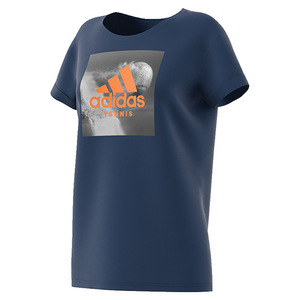 Women`s Graphic Tennis Tee Mystery Blue