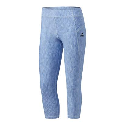 Women`s Mid-Rise 3/4 Jacquard Tight Blue Print