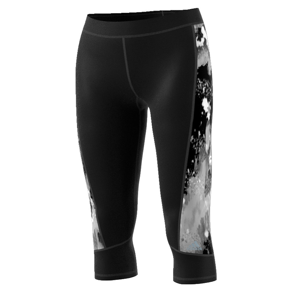 Women's Techfit Oxidized Camo Print Capri Black