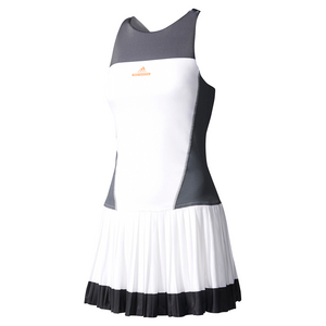 Women`s Stella McCartney Barricade Tennis Dress 2 White and Gray