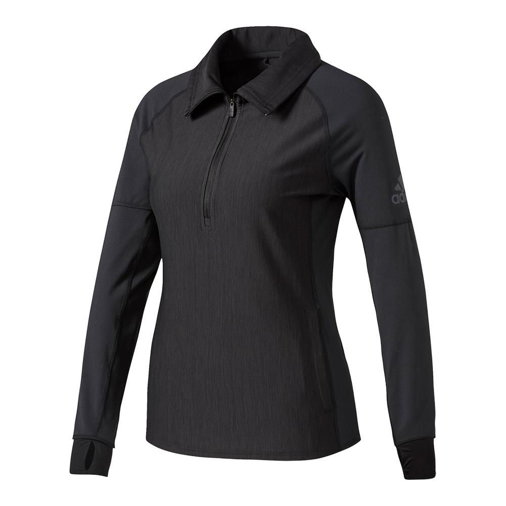 Women's Performer Baseline Quarter Zip Top Black
