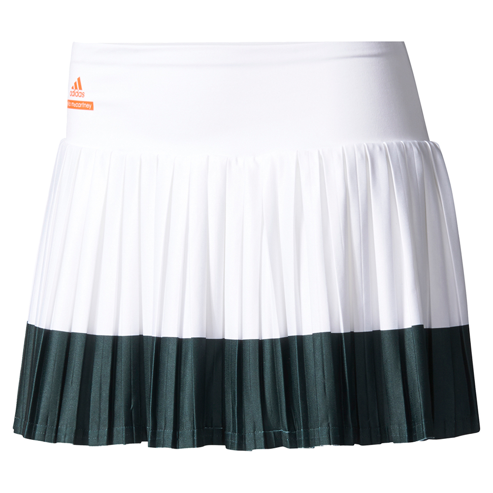 Women's Stella Mccartney Barricade Tennis Skirt 2 White And Black
