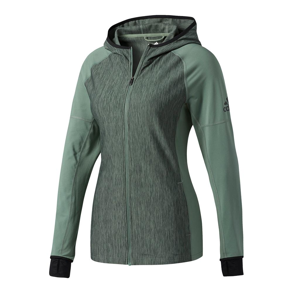 Women's Performer Baseline Full- Zip Hoodie Trace Green