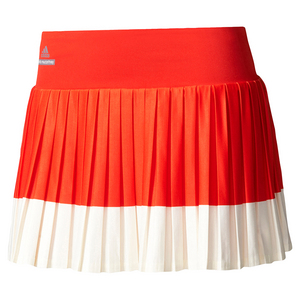 Women`s Stella McCartney Barricade Tennis Skirt 2 Red and Cream White