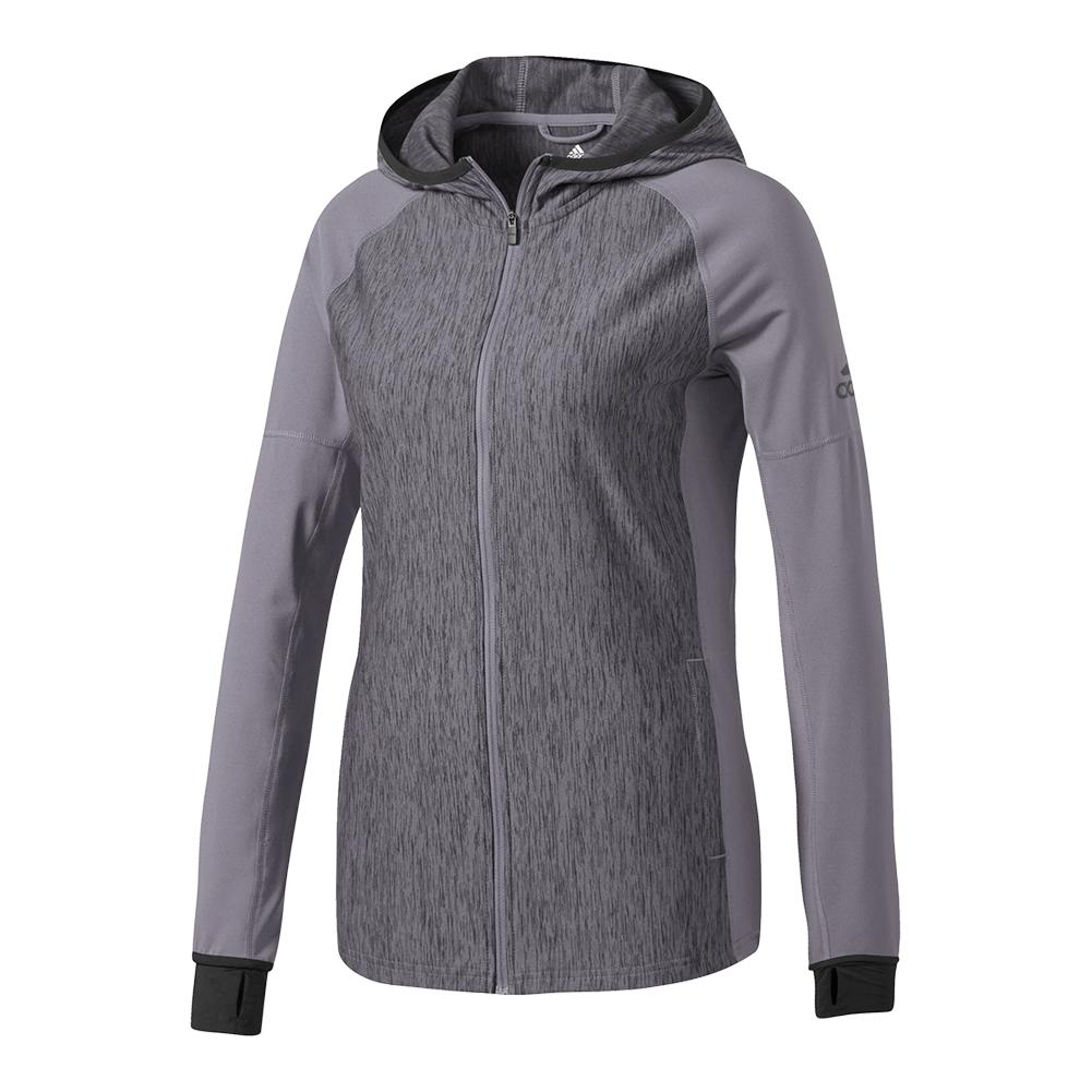 Women's Performer Baseline Full- Zip Hoodie Trace Gray And Black