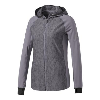 Women`s Performer Baseline Full-Zip Hoodie Trace Gray and Black