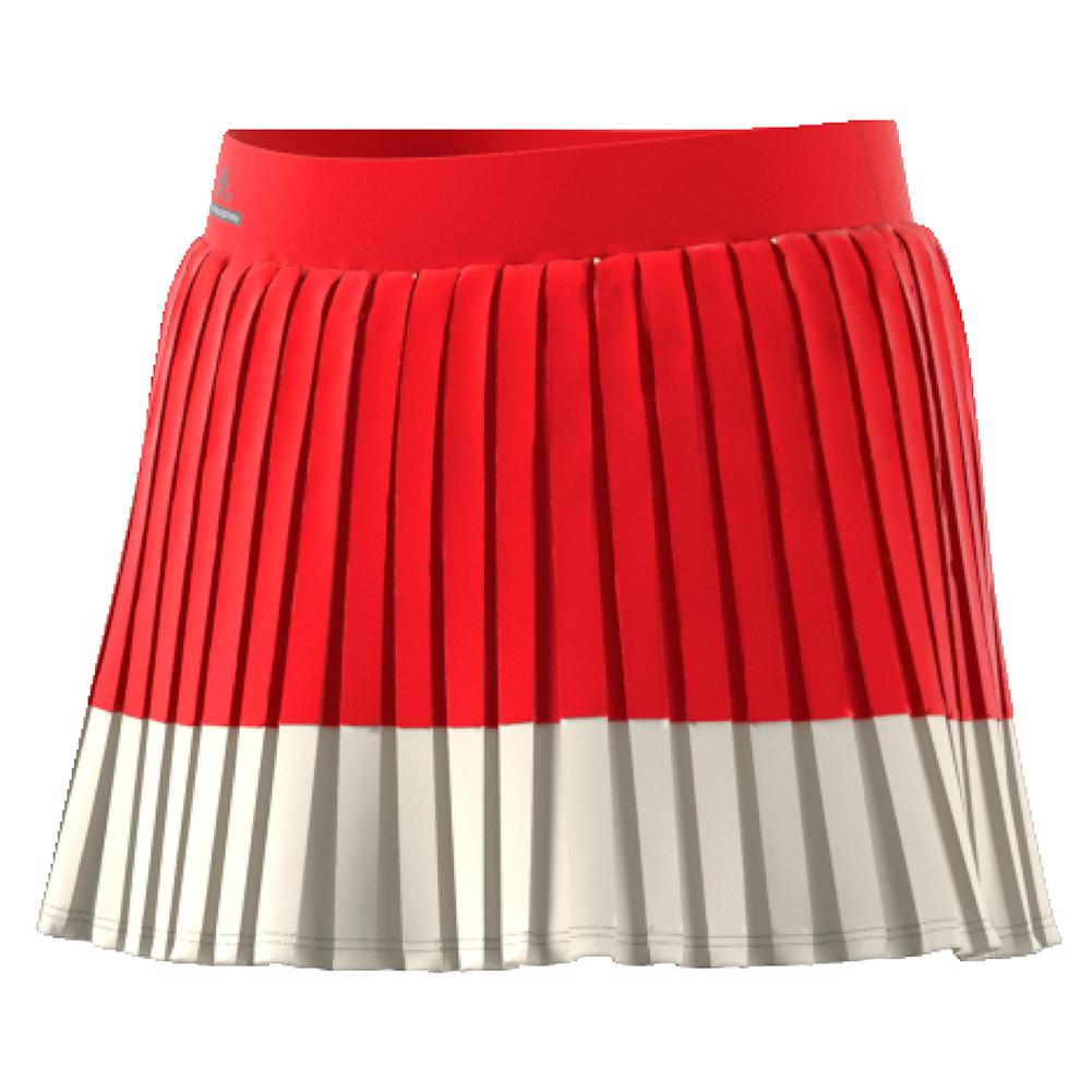 Girls'stella Mccartney Barricade Tennis Skirt Red And Cream White