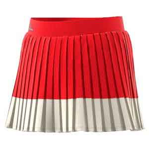 Girls` Stella McCartney Barricade Tennis Skirt Red and Cream White