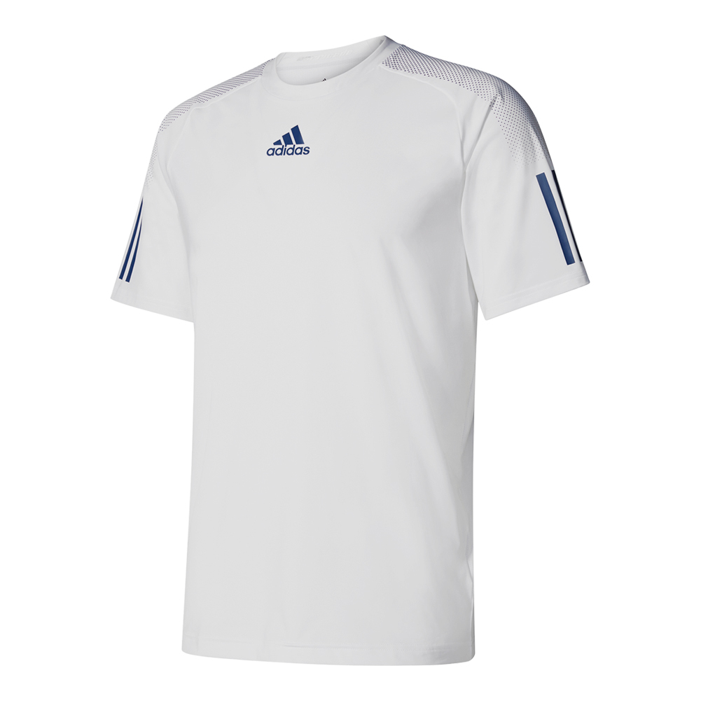 Men's Barricade Tennis Tee White And Mystery Blue