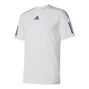 Men`s Barricade Tennis Tee White and Mystery Blue