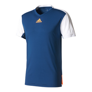 Men`s Melbourne Tennis Tee Mystery Blue and Glow Orange
