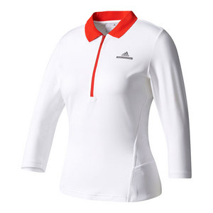 Women`s Stella McCartney Barricade Long Sleeve Tennis Top Cream White