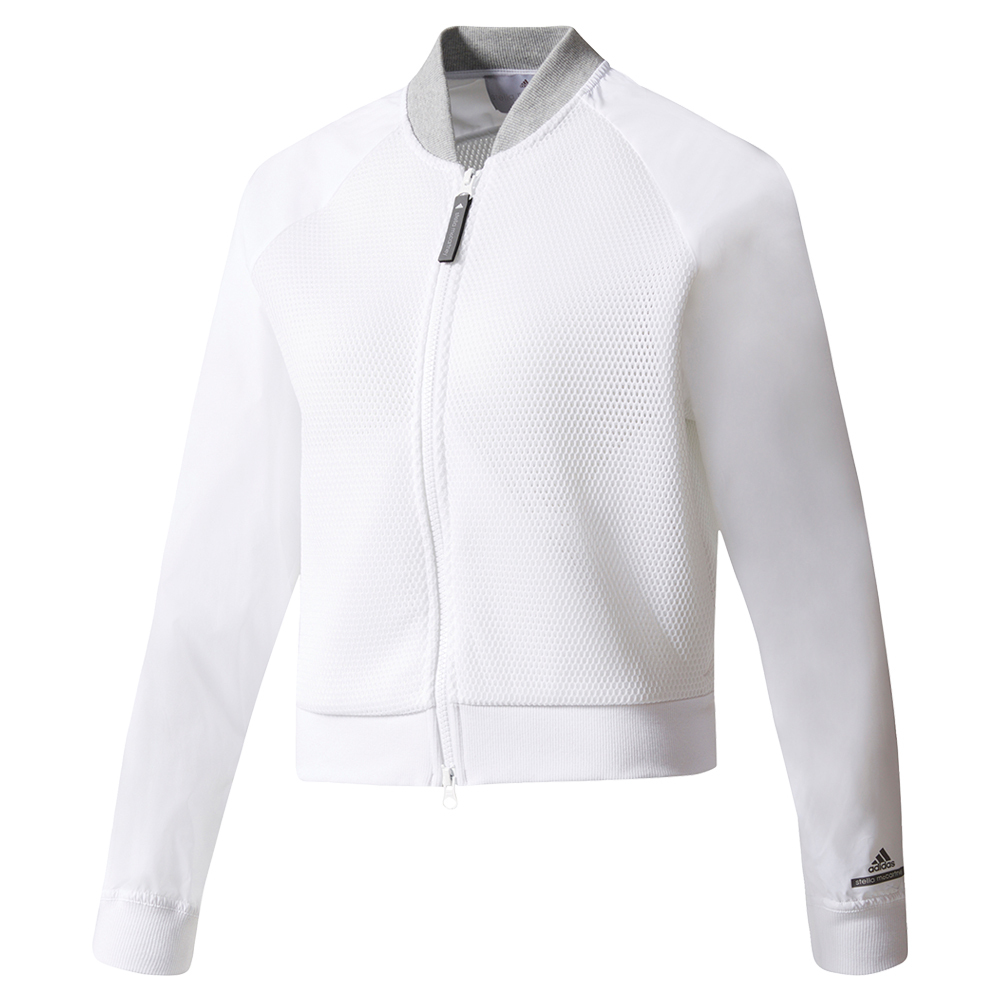 Women's Stella Mccartney Barricade Tennis Jacket Cream White