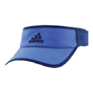 Men`s Adizero II Tennis Visor Blue and Mystery Blue