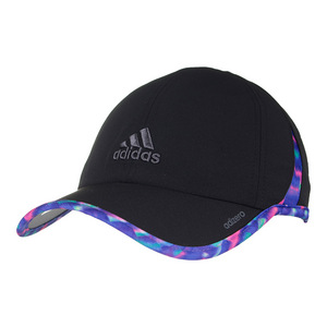 Women`s Adizero II Tennis Cap Black Deepest Space and Multicolor Jawbreakr Print