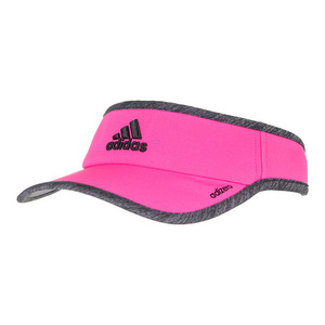 Women`s Adizero II Tennis Visor Shock Pink and Dark Gray Heather