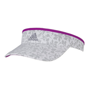 Women`s Match Tennis Visor White and Gray