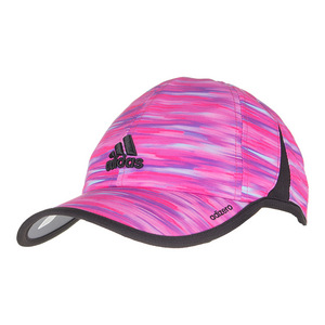 Women`s Adizero Extra Tennis Cap Shock Pink and Black Whimsy Print