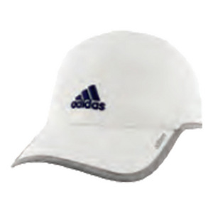Men`s Adizero II Tennis Cap White and Light Gray Heather