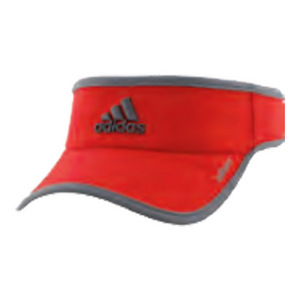 Men`s Adizero II Tennis Visor Scarlet and Onix