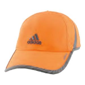 Women`s Adizero II Tennis Cap Glow Orange and Light Gray Heather