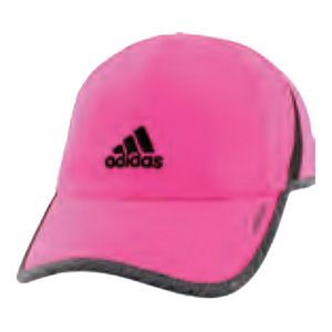 Women`s Adizero II Tennis Cap Shock Pink and Dark Gray Heather