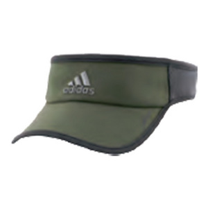 Men`s Adizero II Tennis Visor Base Green and Dark Gray