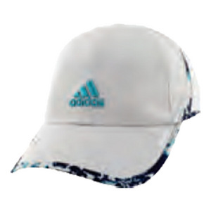 Women`s Adizero II Tennis Cap Clear Onix and Energy Blue Oxidized Print