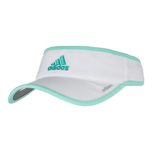 Women`s Adizero II Tennis Visor White and Easy Green