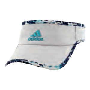 Women`s Adizero II Tennis Visor Clear Onix and Energy Blue Oxidized Print