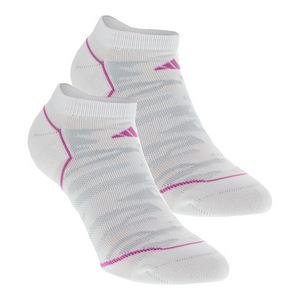 Women`s Superlite Prime No Show Socks 2 Pack White and Mono Pink Size 5-10